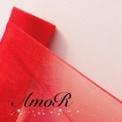赤のオーガンジー4m