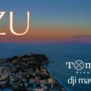 伊豆半島の空に大島が浮かぶ。ハンサムな夕空をどうぞ