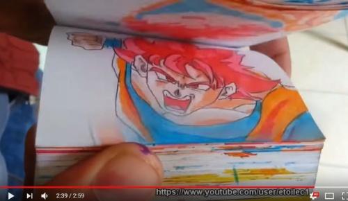 悟空VSスーパーマンを描いたパラパラ漫画が超大作と海外大絶賛