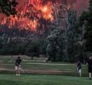 ラウンド中に迫る山火事、ゴルファー動じず 米ワシントン州
