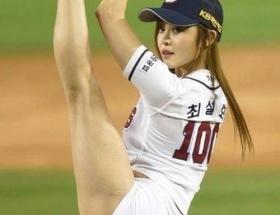 【画像】韓国の始球式エロすぎww