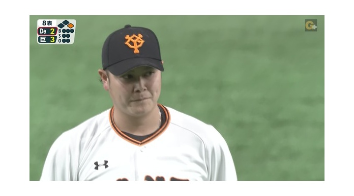 【 画像 】巨人・宮國、四球だした直後にベンチをガン見・・・