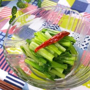レンジで簡単!お手軽な副菜に♪小松菜のピリ辛和え