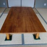 『宇多津町のヒノキ無垢のオリジナル座卓を納品』の画像