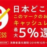『【重要なお知らせ】キャッシュレス・ポイント5%還元について』の画像