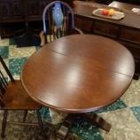 『オールドチャームの伸長式オーバルダイニングテーブル・OC2472-DA』の画像