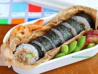 体育祭は「食べやすい弁当」→巻き寿司の弁当と、巻き寿司の分量やコツについて