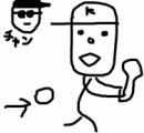 【田辺誠一画伯 】錦織選手の世界最強のバックハンドを描いてみました→