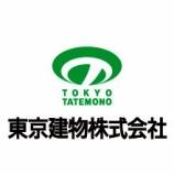 『東京建物(8804)-三菱UFJ信託銀行(保有株処分売り)』の画像