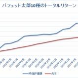 『【トータルリターン19ヶ月目】「バフェット太郎10種」VS「S&P500:IVV」』の画像