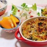 『作り置き薬膳おかずのリメイクで、イワシとマッシュルームの香草パン粉焼き&ハーブチキンと梨と白木耳のサラダ』の画像