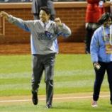 『【MLB】元カージナルス・田口壮氏がワールドシリーズの試合前のセレモニーに登場、観客から大歓声』の画像