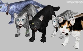 Cats in Skyrim スカイリムが猫だらけになるMOD