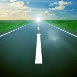 『『道路の白線引き』の様子が見えました。』の画像