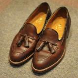 『はじめの一歩。オールデン 36602 タッセル クロムエクセル仕様を履き皺入れてみたお客様の靴。』の画像