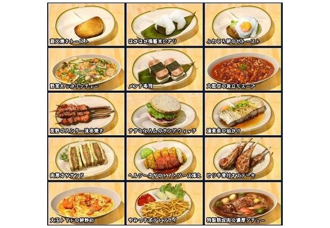【FF15】料理リスト画像