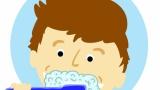 歯磨き中親父「オエッ!ヴォエッ!」 クソガキ ぼく「ほんと汚いなぁ…」