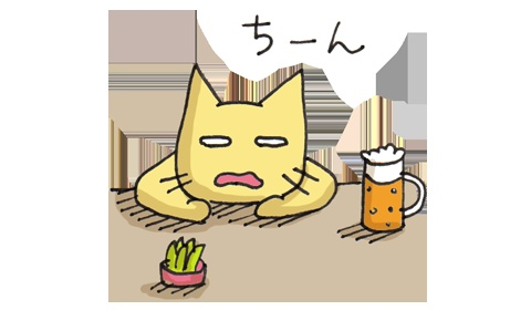 出されたお題で猫のイラストを描いていく