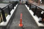 新しい橋ができて通行止は解除〜スタコ坂歩道橋。前川と私部西の住宅街を結ぶところ〜