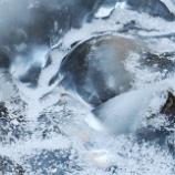 『凍った渓流』の画像