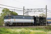『2020/4/27運転 EF65-2138牽引ヨ8000形2両配給』の画像