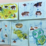 『こすもすアートタイム5/31 雨の日大好きカエルさん』の画像