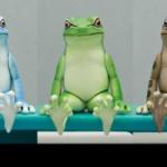 キタンクラブのガチャフィギュア「座る」シリーズに新作「座る蛙」が登場!