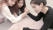 【IZ*ONE】チェウォンとウンビが腕相撲対決!&イェナがインスタ更新!