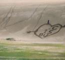 大学生ら 鳥取砂丘に巨大落書き