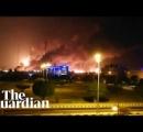 サウジアラビアの世界最大規模の原油施設、10機のドローンで攻撃され火災 原油価格に影響★2