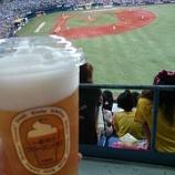 『京セラドーム~'14.8月①阪神vs.中日「ビールワンコインデー」』の画像