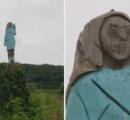 スロベニアにあるトランプ大統領の妻をモデルにしたメラニア像が酷すぎな件