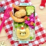 『猫ちゃんサンタのキャラ弁とクリスマステーマのキャラ弁』の画像