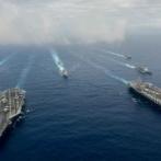太平洋に米海軍空母打撃群3個群が集結…航空機300機、イージス艦15隻、原潜6隻!