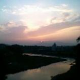『開運の夕焼けを激写!』の画像