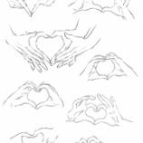 『ベクター素材 手06 ハートの手』の画像
