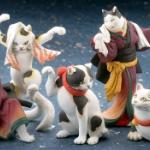 浮世絵師 歌川国芳 作の猫がフィギュアになってガチャに登場!「猫の立体浮世絵美術館」