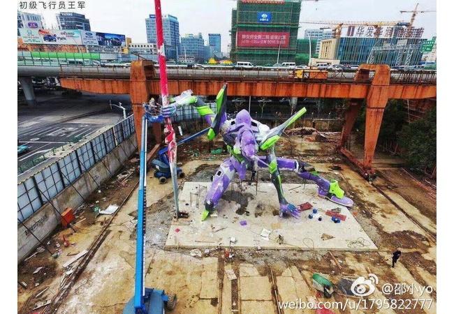 中国「上海に25mのエヴァ建てたわ」