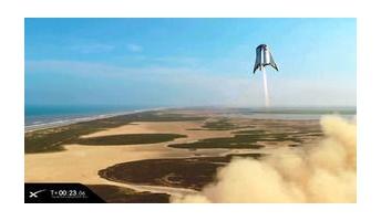 【宇宙開発】まるでSF映画 100人乗り宇宙船の試験機、浮上成功 スペースX「スターシップ」