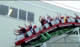 【日本の遊園地】    ジェットコースターに乗った外人達のテンションが 高すぎな件。   海外の反応