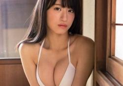 NMB48上西怜ちゃん(16)が水着グラビアでふんわりFカップおっぱいを披露!