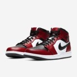 『6/3 9:00 発売予定 AIR JORDAN 1 MID BRED TOE 554724-069』の画像