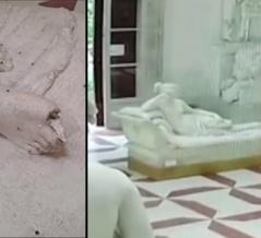 美術館に展示されている石膏像を壊してしまった観光客!彼が取った行動とは?