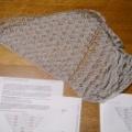 Habu(八布)Bamboo 糸でAeolian Shawl を編む。