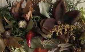 秋色のドライフラワーリース