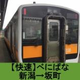 『快速べにばな 車窓[下り]新潟→坂町』の画像