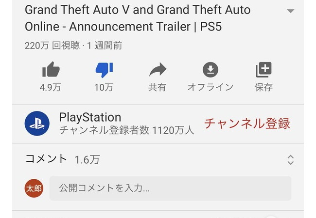 GTA5評価数、とんでもないことになる