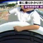 【ドラレコ】 愛知のフロントガラス叩き割り男(無職)を逮捕! 逃走していたが親に連れられ出頭