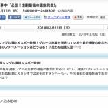 『【乃木坂46】乃木中『必見!生駒最後の選抜発表!』思わぬ結果に涙を流すメンバーも・・・』の画像