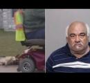 電動カートで犬を引きずりまわした男を逮捕